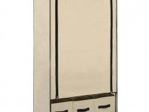Șifonier, crem, 87 x 49 x 159 cm, material 282459