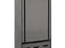 Șifonier, gri, 87 x 49 x 159 cm, material 282460