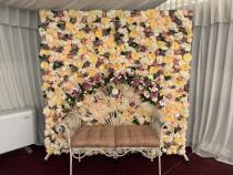 Panou floral cu bancuta / Photo corner