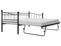 Cadru de pat, negru, 180x200/90x200 cm, 285307