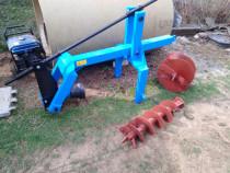 Burghiu tractor pomi foreza