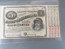 Obligațiune 5 dolari 1879