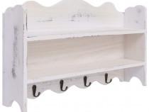 Cuier de perete, alb, 50 x 10 x 30 cm, lemn 284235