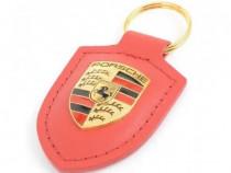 Breloc Cheie Oe Porsche Piele Rosu WAP0500920E