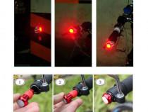 Set lumini semnalizare dop protectie reglabil ghidon biciclc