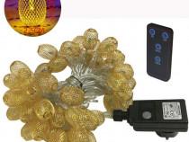Instalatie becuri 50 LED 9m BlueFire, telecomanda