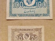 B506-Set 2 bancnote Mihai 1945 circulate.