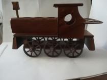 Locomotiva cu suport de sticla si pahare – mare