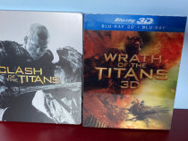 Clash of Titans steelbook bluray+Wrath of Titans 3D+2D,NOI