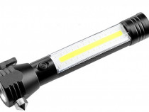 Lanterna LED de Urgenta Auto Reincarcabila Cu Ciocan C309