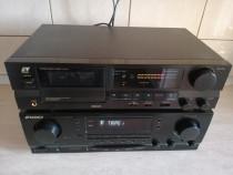 Receiver SANSUI RZ-6100AV+cass deck SANSUI D-X111