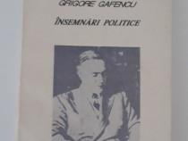 Grigore gafencu insemnari politice