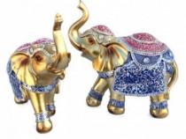 Set 2 Elefanti Decorati Cu Pietricele Si Sparturi 557E