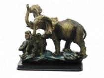 Statueta Elefant Cu Pui 23x23 Cm