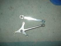 Brațe pedalier vintage din oțel