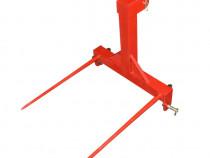 Furca baloti in tiranti, simple/hidraulice, 2-4 tepuse