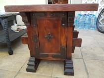 Masuta / noptiera vintage lemn natur