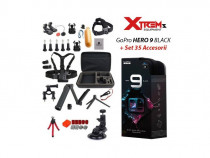 Gopro Hero 9 Black + Set 35 Accesorii Compatibile + Geanta