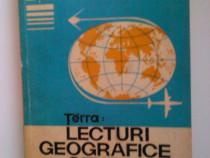 Carte, Terra Lecturi geografice generale, 1975, R.S.R, 245 p