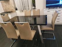 Masa extensibila Lems+ 6 scaune tapitate