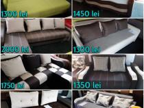 Canapele, coltare si paturi din lemn masiv, noi, zalau