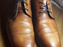 Ghete pantofi piele BUGATTI barbati 43