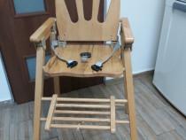 Scaun masa pliant de lemn pentru copii