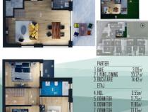Direct dezvoltator, vila Com. Berceni, 101 mp + 155 mp curte