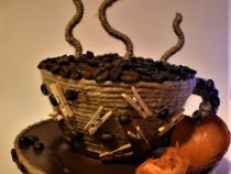 Decorațiuni cu boabe de cafea