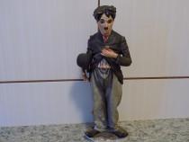 Statuieta vintage Charlie Chaplin portelan Poema semnat Emil