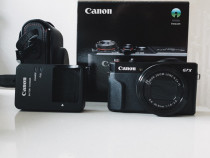 Canon PowerShot G7 X Mark II - Aparat Foto 20.1MP + Husa
