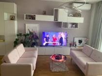 Doua canapele de 2 locuri, Arezza roz,impecabile,Somproduct