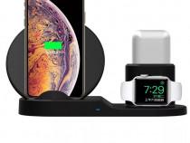 Stand Dock 3 in 1 Incarcare Wireless Telefon Iphone Ceas App