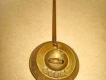 B942-Limba mica cu greutate pendul antic bronz masiv marcata