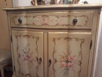 Comoda vintage/antica baroc venetian,mobila pictata manual