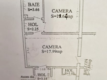 Apartament 2 camere semidecomandat Tomis III
