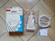 Wii: Volan Wii, kit Racing cu baza flexibila pentru fixare!