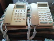Două telefoane fixe, cu 10 m cablu telefonic și mufă -
