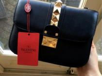 Geanta Valentino Garavani import Italia, accesorii aurii