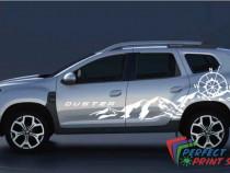 Set 2 stikere autocolante usi laterale Dacia Duster