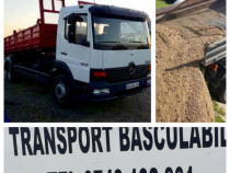 Transport marfa basculabil 7.5T (4m3) nisip sort piatra