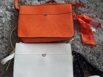 Geanta portocalie / geanta alba C&A