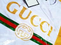 Tricouri Gucci new model logo auriu diverse mărimi