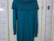 Rochie tunica pulover turcoaz marimea S / XS - Noua