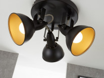 Lustra retro/vintage rotunda, Briloner, 3 spoturi rotative