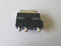 Adaptor bidirectional Scart tata - RCA mama si S-video VHS