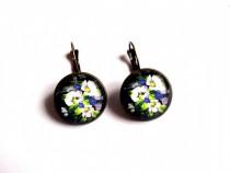 Cercei cu motiv floral 38104