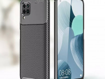 Husa Carbon Neagra + Folie Sticla Huawei P40 P40 LITE /E/5G