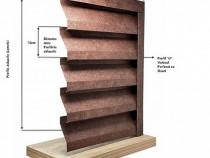 Gard tip Jaluzele Piramida 2000×1165 mm imitatie piatra