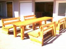 Seturi terasa Mese banci gradina Masa Banca lemn Set foisor